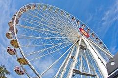 Gigante ruede adentro el parque de atracciones de Prater en Viena Imágenes de archivo libres de regalías