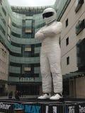 Gigante Stig en la BBC, Londres Fotos de archivo libres de regalías
