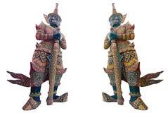 Gigante tailandés, demonio del guardia en el palacio magnífico Foto de archivo