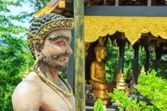 Gigante, templo, misturando-se, escultura Fotografia de Stock Royalty Free