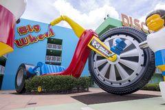 Gigante Toy Big Wheel do recurso do século do PNF do ` s de Disney foto de stock royalty free