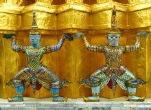 Gigante a Wat Phra Kaew Bangkok, Tailandia Fotografia Stock