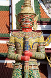 Gigante Wat Pra Kaeo Temple, Tailândia Imagem de Stock