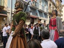 Gigantes de la Chantrea en Pamplona, España imágenes de archivo libres de regalías