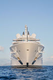 Gigantic big and large luxury mega or super motor yacht on the o Stock Photo
