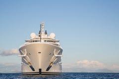 Gigantic big and large luxury mega or super motor yacht on the o Royalty Free Stock Photography