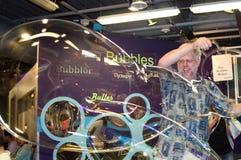 Gigantic bubbles at the Denver Children's Museum Stock Photo