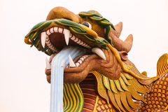The gigantic Chinese dragon in China town, on blue sk. Stock Photography