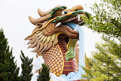 The gigantic chinese dragon in China town, on blue sky backgroun. D, Thailand Stock Photo