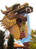 The gigantic chinese dragon in China town, on blue sky. Stock Image