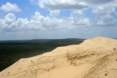 Gigantic Dune de Pyla in Arcachon, France. Photograph of the breathtaking natural phenomenon of the enormous Dune du Pyla on the coast of Western France Royalty Free Stock Images