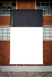 Gigantic Empty Board, placed on old abandoned factory Royalty Free Stock Image