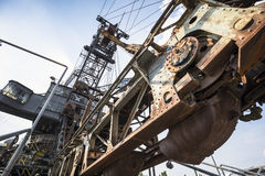 Gigantic excavators in disused coal mine Ferropolis, Germany Stock Photo