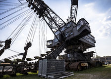 Gigantic excavators in disused coal mine Ferropolis, Germany Stock Photos