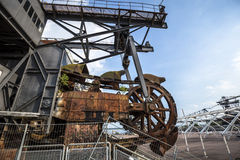 Gigantic excavators in disused coal mine Ferropolis, Germany Royalty Free Stock Photography