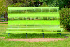 Gigantic green bench Royalty Free Stock Image