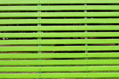 Gigantic green bench Stock Photo