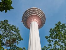 Gigantic KL Tower Surrounded by Tree in Kuala Lumpur. View of Gigantic KL Tower Surrounded by Tree in Kuala Lumpur Stock Photography