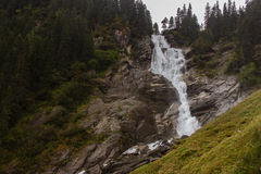 Gigantic Krimml waterfall in autumn at Tauern National Park, Aus Royalty Free Stock Photo