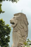 Gigantic Merlion monument Stock Image