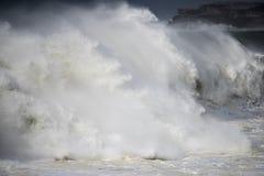 Gigantic beach break wave Royalty Free Stock Photos