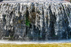 Gigantic water cascades during water features in the Wilhelmshoehe mountain park in Kassel, Germany. Water running down the cascades during the water features in Stock Photos