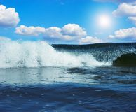 Gigantic wave in atlantic ocean Stock Photography
