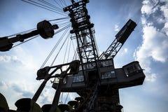 Gigantische graafwerktuigen in niet meer gebruikte kolenmijn Ferropolis, Duitsland Royalty-vrije Stock Foto's