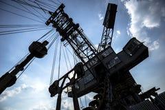 Gigantische graafwerktuigen in niet meer gebruikte kolenmijn Ferropolis, Duitsland Stock Afbeeldingen