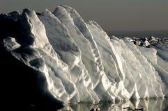 Gigantische ijsrimpelingen Stock Afbeelding