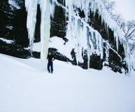 Gigantischer Eiszapfen Stockbilder