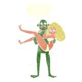 gigantisk bärande kvinna för tecknad film Arkivbilder