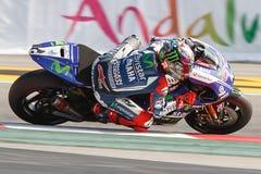 Gigantisk energigrand prix av Catalunya MotoGP Chaufför Jorge Lorenzo team yamahaen Royaltyfri Foto