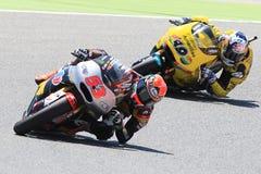 Gigantisk energigrand prix av Catalunya MotoGP Chaufförer Esteve Rabat och ensamvarg Viñales Moto2 Royaltyfri Bild