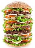 gigantisk hamburgare Arkivbilder