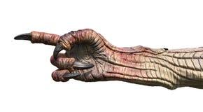 Gigantisk hand som pekar fingret stock illustrationer