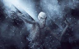 Gigantisk illustration 3D för demon Arkivfoto