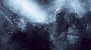 Gigantisk illustration 3D för demon royaltyfri illustrationer