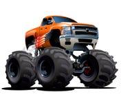 Gigantisk lastbil för tecknad film Arkivbilder
