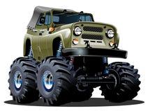 Gigantisk lastbil för tecknad film Arkivfoton