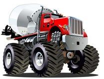 Gigantisk lastbil för tecknad filmblandare Royaltyfria Bilder