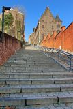 Gigantisk trappa i Liege Royaltyfria Bilder
