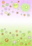 gigantiska gulliga flottörhus blommor stock illustrationer