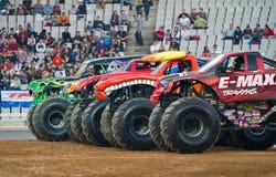 Gigantiska lastbilar Fotografering för Bildbyråer