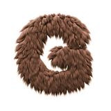 Gigantiskt bokstavsG - stilsort för stora bokstav 3d halloween - fasa-, snöman- eller sasquatchbegrepp stock illustrationer