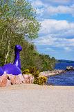 Gigantiskt diagram för Loch Ness i Loch Ness i Skottland Royaltyfri Bild