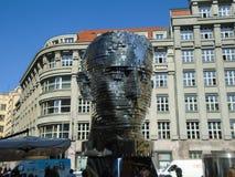 Gigantiskt mekaniskt huvud för Franz Kafka ` s arkivbilder