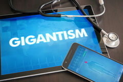 Gigantism (endocrine disease) diagnosis medical concept on table Royalty Free Stock Photography