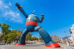 Gigantor机器人(Tetsujin 28)在神户,日本 免版税图库摄影