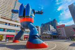 Gigantor机器人(Tetsujin 28)在神户,日本 库存照片